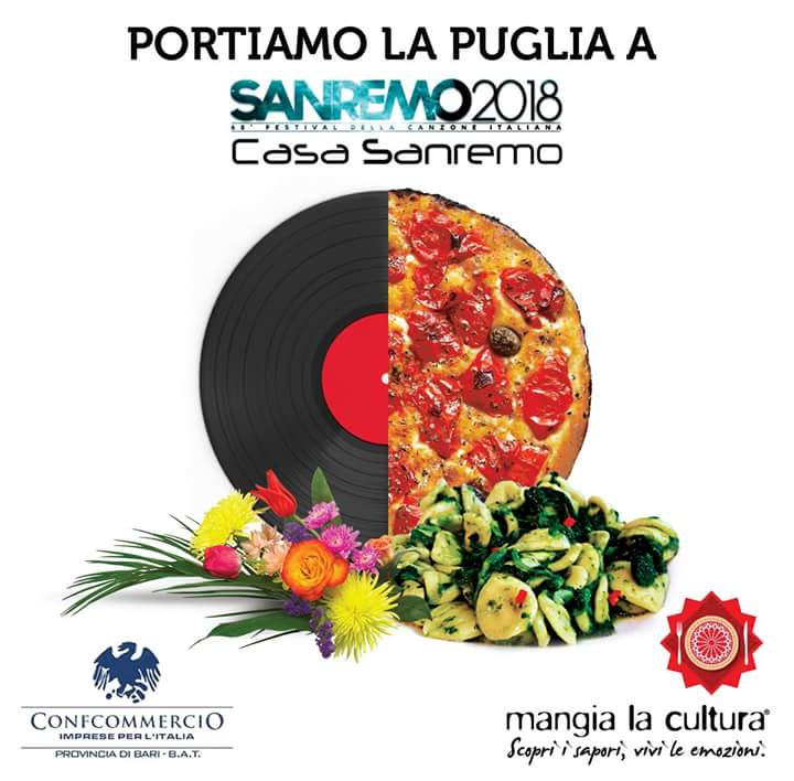 "10 febbraio 2018, Cena a Casa Sanremo Official firmata ""Confguide Mangia la cultura"" (Visitacasteldelmonte)"
